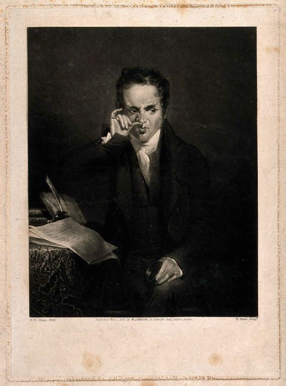 Young Gentleman taking snuff. Mezzotint by H. Dawe, 1824. Wellcome Trust