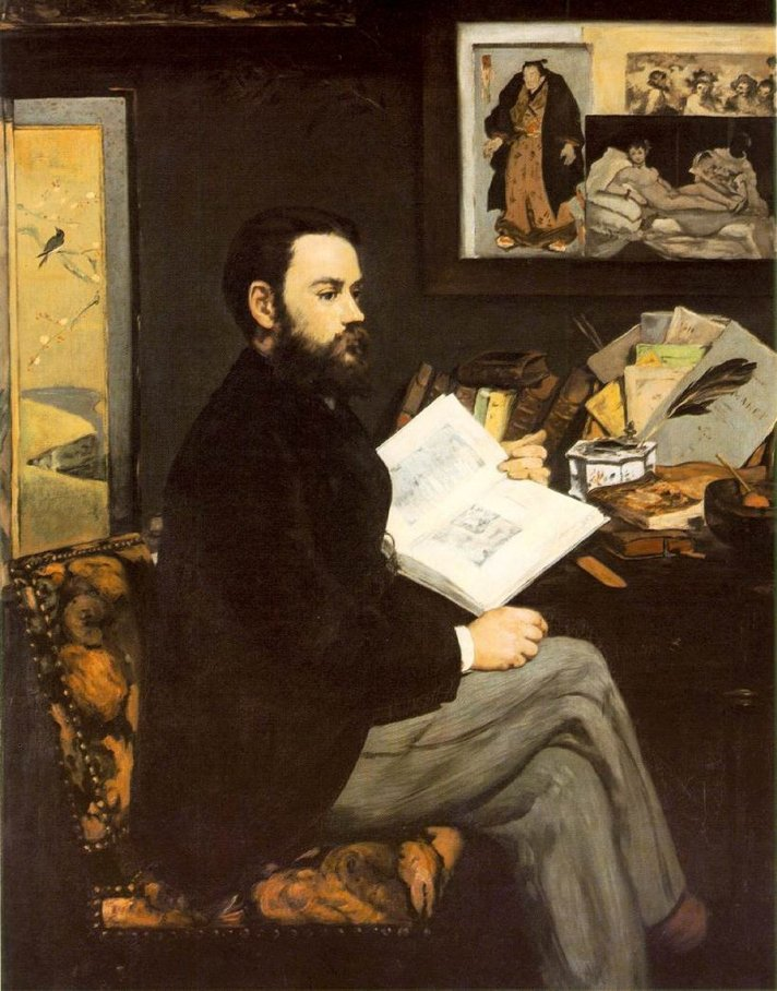 manet portrait of Zola 1866