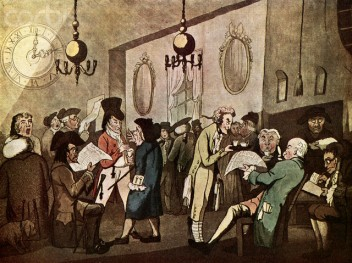 Lloyds Coffee House by William Holland, 1789