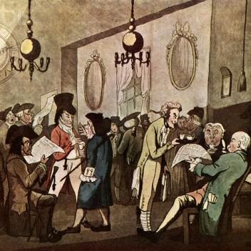Lloyds Coffee House by William Holland, 1789
